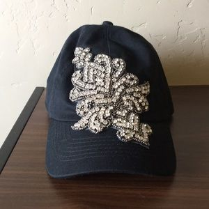 Accessories - Fashion baseball cap with rhinestone accents